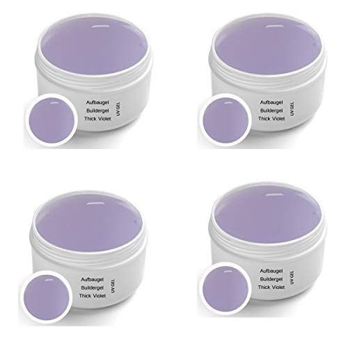 Gel UV per unghie Thick Violet, 4x30 ml - UV Gel - UV Buildergel