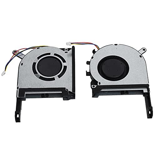 Enfriador CPU 2 Piezas Compatible con ASUS TUF FX505ge/ FX505gm/ FX505dt/ FX705, Ventiladores Refrigeración Disipador Calor 4 Pines Repuesto para DFS5K12114262H, Ventilador para Ordenador PC