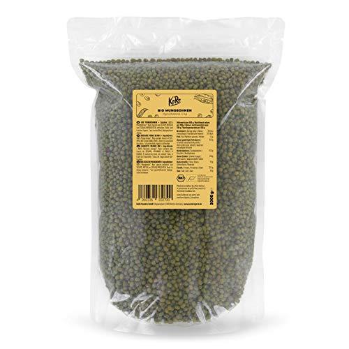 KoRo - Bio Mungbohnen 2 kg - Eiweißreiche Hülsenfrüchte aus biologischem Anbau, im Vorteilspack