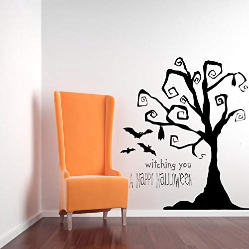 Halloween Decal Funny Sticker Fall Sticker Tim Burton Decor, Tree Wall Decal, Tree Decal, Halloween Tree, Halloween Decorations, Wall Decal, Home Decor, Party Decor, Bat Decal, Art 62 Inches
