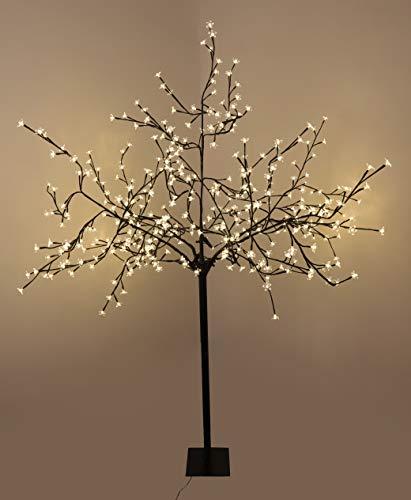 Christmas Concepts® 2m / 6.6ft Árbol de flor LED para exteriores con 400 luces LED de bajo voltaje blanco cálido [Clase de energía A +++]