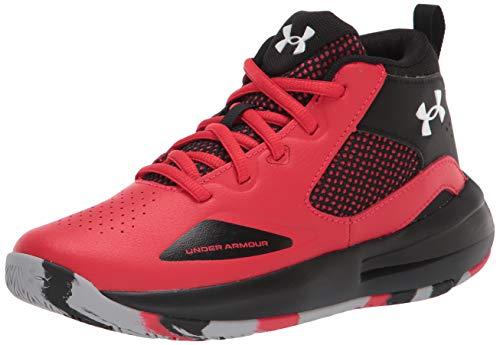 Under Armour Pre School Lockdown 5 Basketball Shoe, Versa Red (601)/Black, 3 US Unisex Little Kid
