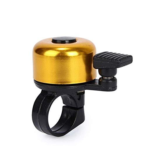 FENGLI Tragbar für Sicherheit Radfahren Lenker Metall Ring Fahrrad Bell Horn Klang Alarm Fahrrad Zubehör Outdoor Schutz Bell Ringe Bike Bell (Color : Gold)