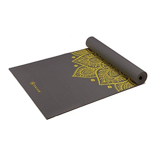 Gaiam Premium Yoga-Matten mit Aufdruck One Size Citron Sundial