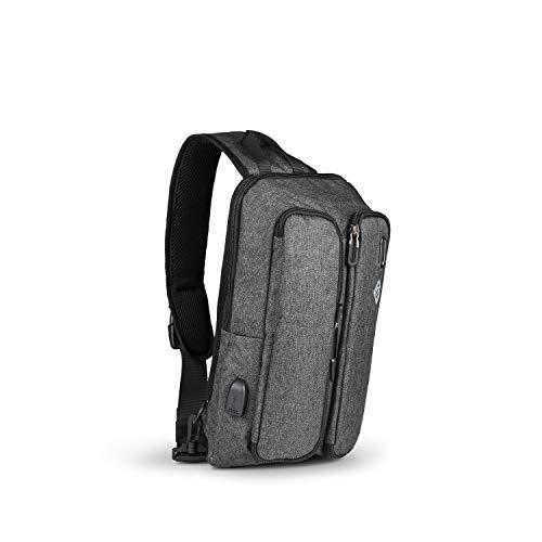 Boostbag Sling - Boostboxx Slingbag Multifunktions Umhängetasche, Schultertasche für...