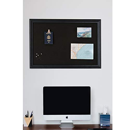 Cork Board with Wood Frame, Multiple Sizes | Bulletin Board | Pin Board | Memo Board | Corkboard | Vision Board Supplies | Cork Board | Cork Board Bulletin Board | Cork Boards | (Black, 30X20) Photo #3