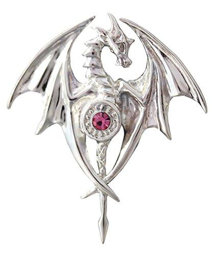 Drachen-Göttin - Für Ausgeglichenheit und Harmonie - Anne Stokes Mythische Gefährten Amulette - Aus 925er Sterling Silber gefertigt und mit einer 925er Silberkette ausgestattet -
