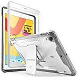 iPad 10.2 2019 Case, Poetic Full-Body Heavy Duty Shockproof Protective Cover with Kickstand, Built-in Screen Protector, Revolution, for Apple iPad 10.2 inch (7th Gen, 2019 Release), White