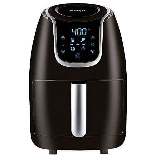 PowerXL Air Fryer Vortex - Multi Cooker with Roast, Bake, Food Dehydrator, Reheat Non Stick Coated Basket, Cookbook (2 QT, Black)