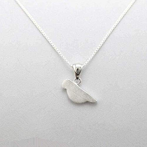ZHIFUBA Co.,Ltd Collar de Moda Exquisita joyería de Color Plateado Lindo Proceso de Dibujo pequeño Modelado de Aves Collares Pendientes Femeninos