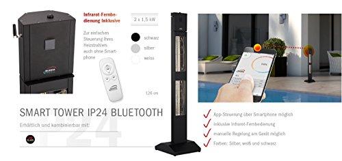 BURDA BTBHST3024-1 Heizstrahler IP24 3,0 kW Bluetooth schw. - 2