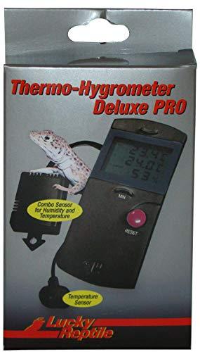 Lucky Reptile LTH-34 Thermometer und Hygrometer Deluxe Pro, elektronisch mit Fernfühlern