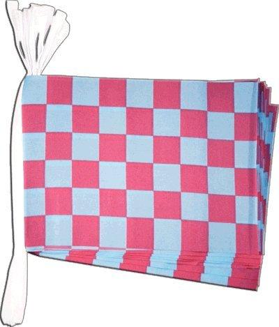 Digni Guirlande 15 drapeaux Damier Rouge-Bleu - 5,9 sticker gratuit