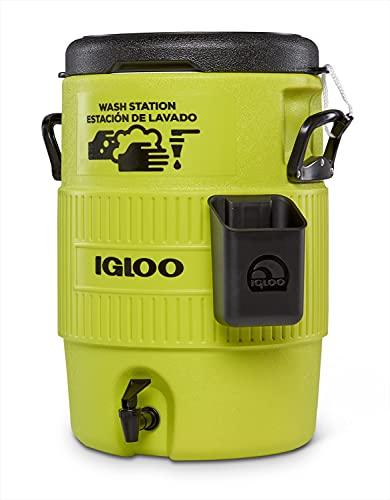 igloo(イグルー) 手洗い ウォータージャグ SEAT TOP WASH STATION 5 GALLON 約18.9L(手洗い約40回分) ハンドソープディスペンサー付き 飲料用にも アウトドア キャンプ レジャー 60359 グリーン