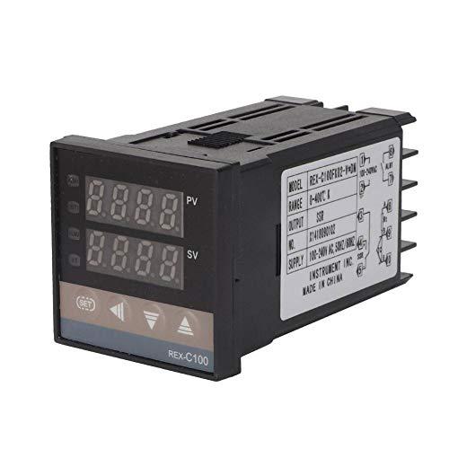 Regolatore di temperatura PID, AC110V-240V 0-400 ℃ Kit termostato regolatore di temperatura LED digitale con relè a stato solido 1 metro M6 Termocoppia tipo K a denti grossi