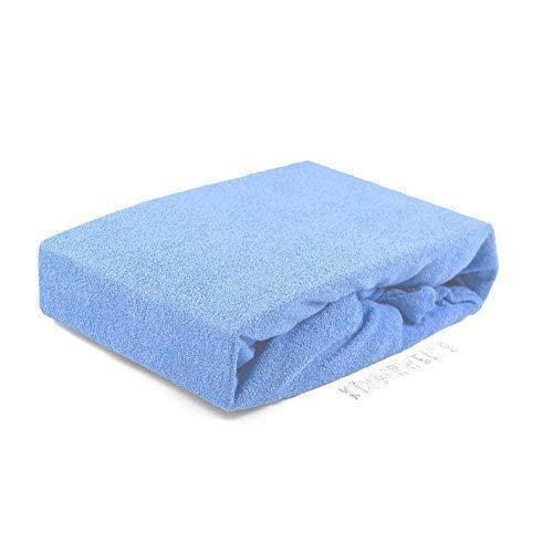 Badstof hoeslaken, 70 x 140 cm, lichtblauw, laken, laken, babybed, hoeslaken, bedlaken