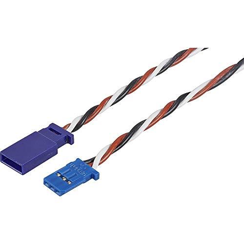 Modelcraft Servo Verlängerungskabel [1x Futaba-Stecker - 1x Futaba-Buchse] 1.00 m 0.35 mm² Silikon, verdrillt