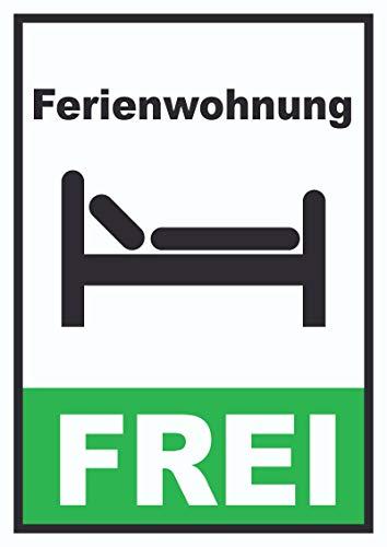 HB-Druck Ferienwohnung frei Hochkant Schild A4 (210x297mm)