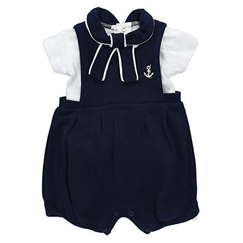 Rock A Bye Baby Set Shirt Shorty Jungen navy weiß | Motiv: Maritim Matrose | Sommer Outfit 2 Teile für Neugeborene & Kleinkinder | Größe: 6-12 Monate (74/80)