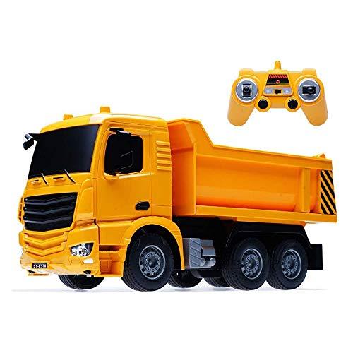 BHJH7 1:26 Camión volquete de ingeniería de control remoto Coche de juguete para niños Modelo de transporte de juguetes de playa Vehículo de ingeniería de control remoto eléctrico inalámbrico Boy Gift