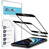 二枚入り 独創 iPhone SE 第2世代 (2020) 用 全面保護フィルム 強化ガラス JOYSKY 2.5Dラウン……