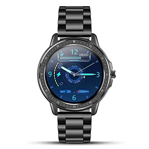 Reloj elegante 1,3' pantalla táctil SmartWatch Trackers la aptitud con el monitor de ritmo cardíaco impermeable IP67 rastreador de ejercicios reloj podómetro inteligente Cronómetro Reloj Hombres Mujer