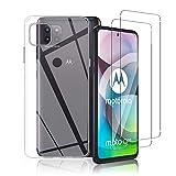 Aerku Funda Compatible con Motorola Moto G 5G, 2 Pack Cristal Templado, Transparente Carcasa Silicona TPU Funda y 9H HD Cristal Vidrio Templado Protector de Pantalla para Motorola Moto G 5G
