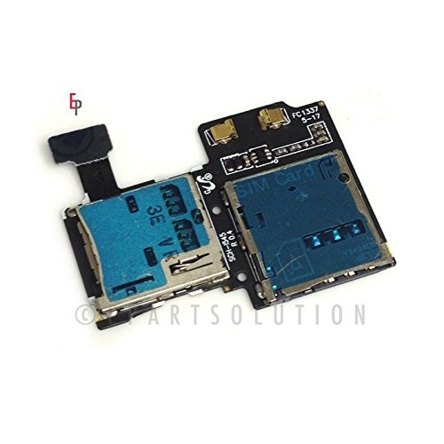 ePartSolution_Sim Tray Sim Card Tray Flex Cable SD Memory Reader Slot Holder Connector for Samsung Galaxy S4 SPH-L720 SGH-i337 SCH-R970 SCH-i545 Replacement Part USA Seller (SCH-i545)