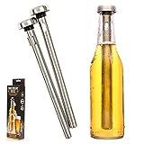 Malayas - Bierkühlstab, 2 Stück, tragbarer Edelstahl-Bierkühler für Flasche, Zuhause, Bar,...