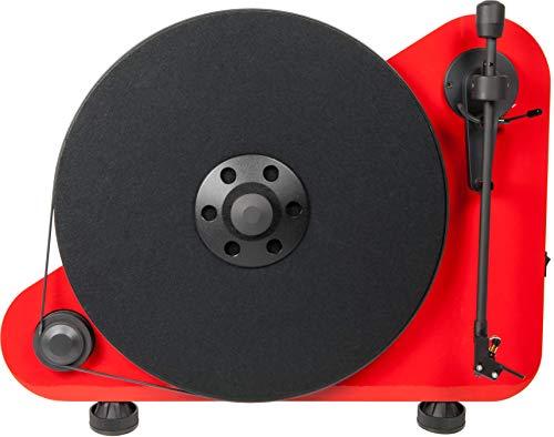 Pro-Ject VTE Bluetooth Giradischi a Posizionamento Verticale, Destro, Rosso