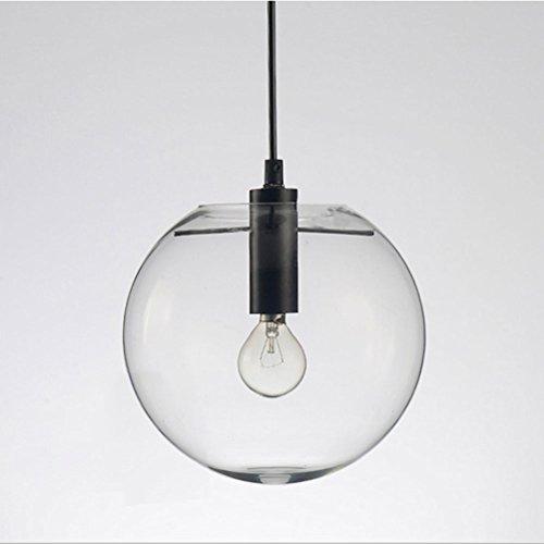 J&B Nordic Pendelleuchten Globus Chrom Lampe Glaskugel Pendelleuchte Lustre Suspension Küche Leuchte E27 Hause Beleuchtung,Black,250