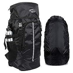 POLESTAR Hike BLK Rucksack with RAIN Cover/Trekking/Hiking BAGPACK/Backpack Bag,JAE