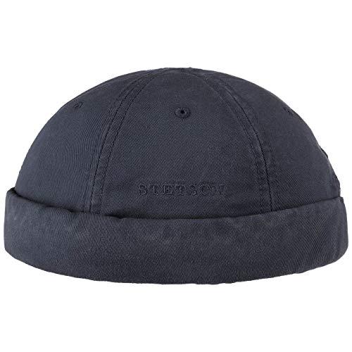 Stetson Ocala Baumwoll Dockercap Herren - Dockermütze aus Baumwolle - Dockercap mit UV-Schutz 40 - Hafenmütze Sommer/Winter - dunkelblau XL (60-61 cm)