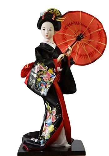Black Temptation Japanese Traditional schöne Kimono-Geisha/Maiko Puppe/Geschenke/Dekoration-09