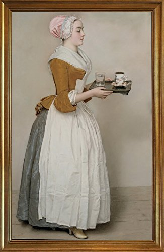 Berkin Arts Rahmen Jean Etienne Liotard Giclée Leinwand Prints Gemälde Poster Reproduktion(Das Schokoladenmädchen)