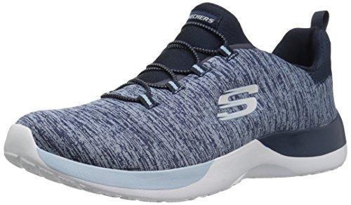 Skechers 12991/NVLB Dynamight-Break-Through Damen Sneaker Slipper blau, Größe:41, Farbe:Blau