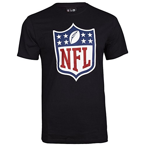 New Era Herren T-Shirt Team Logo Tee NFL Shield, Black, L, 11073678
