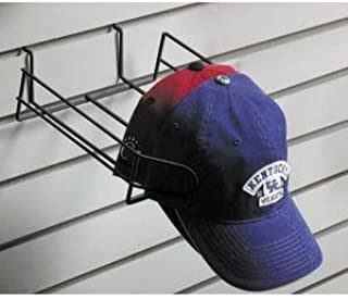 Retail Resource EBL/CAPGWCAPB Wire Hat Display for Slat Wall, Black