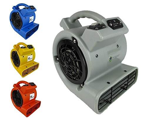 Radial Baugebläse Bauventilator Bautrockner mit 360 Kubikmeter Luftförderleistung pro Stunde in verschiedenen Farben (ROT)