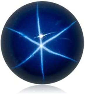 Lab Created Synthetic Blue Star Sapphire Round Cabochon Loose Stones from 6mm - 10mm