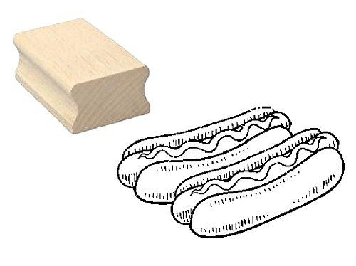 Stempel houtstempel motiefstempel « HOTDOGS » scrapbooking - embossing fastfood grill imbiss gastro