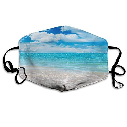 Máscara antiatardecer limpia mar océanos azul resualble máscara de la boca pasamontañas para hombres y mujeres