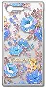 sslink SO-02J Xperia X Compact エクスぺリア クリア ハードケース ピオニー (ブルー) 花柄 フラワー ボタニカル ハワイアン アロハ おしゃれ かわいい 柄 カバー ジャケット スマートフォン スマホケース