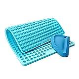 Collory Mini Halbkugel (1cm) Silikon Backmatte und Teigschaber Set zur Herstellung von Hundekekse und Hundeleckerlies DIY, Katzen Leckerli, Hitzebeständig & Antihaftend, Lebensmittelecht BPA-frei