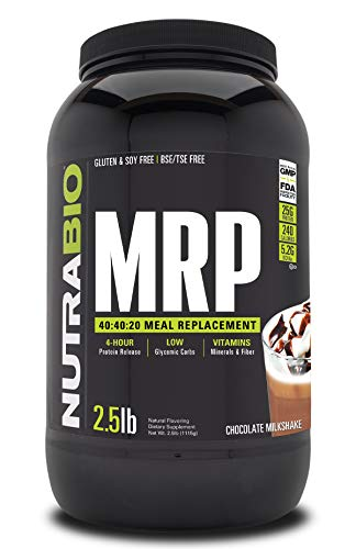 NutraBio MRP – Complete Meal Replacement Protein Powder, 2.5lbs - Chocolate