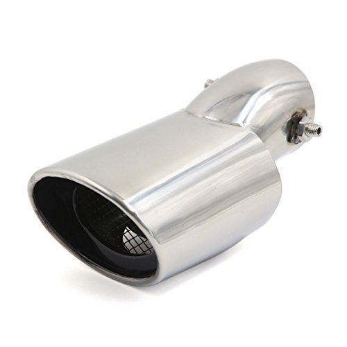 DealMux 55mm Inlet Stainless Steel Curved Type Oval Mesh Outlet Rear Exhaust Pipe Tip for Cruze