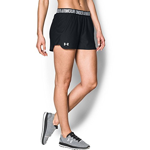 Under Armour Women's Play Up 2.0 Shorts, Black /White, Small