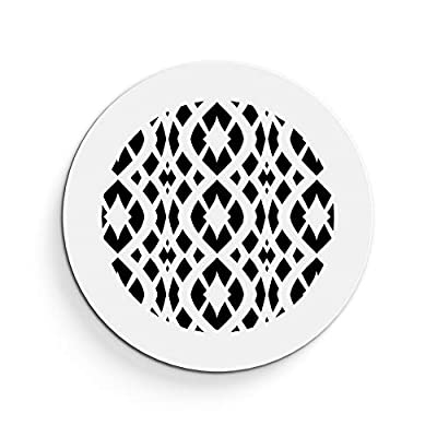 """Saba Air Vent Cover Grille - Acrylic Plexiglass 2"""" Round Duct Opening (4"""" Round Overall) White Finish Decorative Register Covers for Walls and Ceilings NOT for Floor USE, Charlotte"""