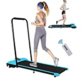 Folding Treadmill for Home Use,300 lb Capacity Smart Electric Walking Running Machine Treadmills 15'' Wide Tread Belt w/Incline LCD Display Super Slim Mini Quiet, Easy Assembly for Home/Office/Gym (B)