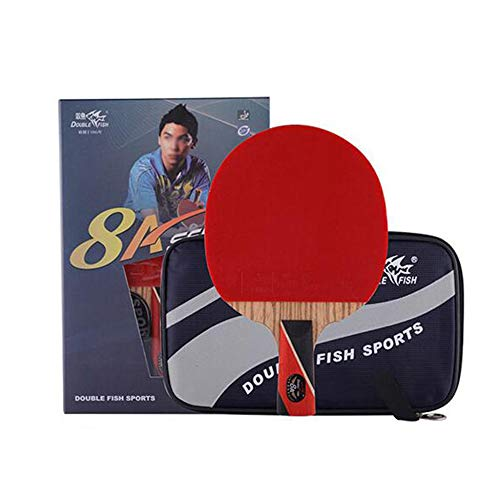 Find Discount SSHHI 8 Stars Ping Pong Paddle,Comfort Handle,with Carrying Case,Offensive Table Tenni...